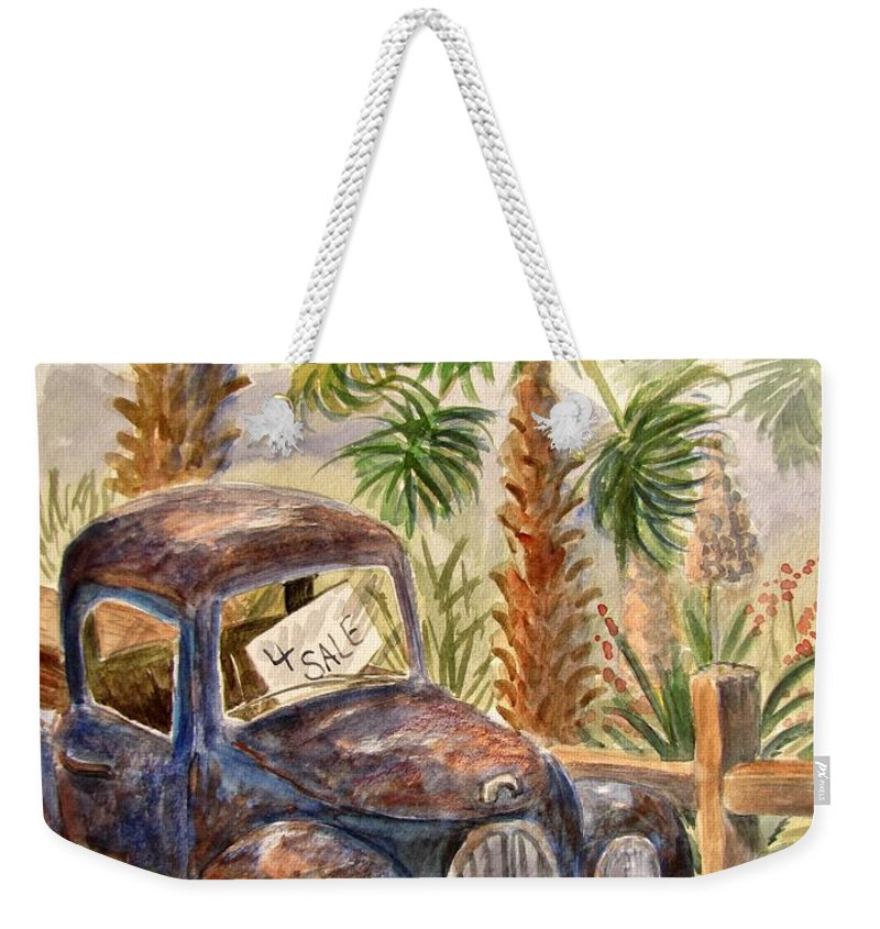 Old Truck Weekender Tote Bag featuring the painting Arizona Sweets by Marilyn Smith