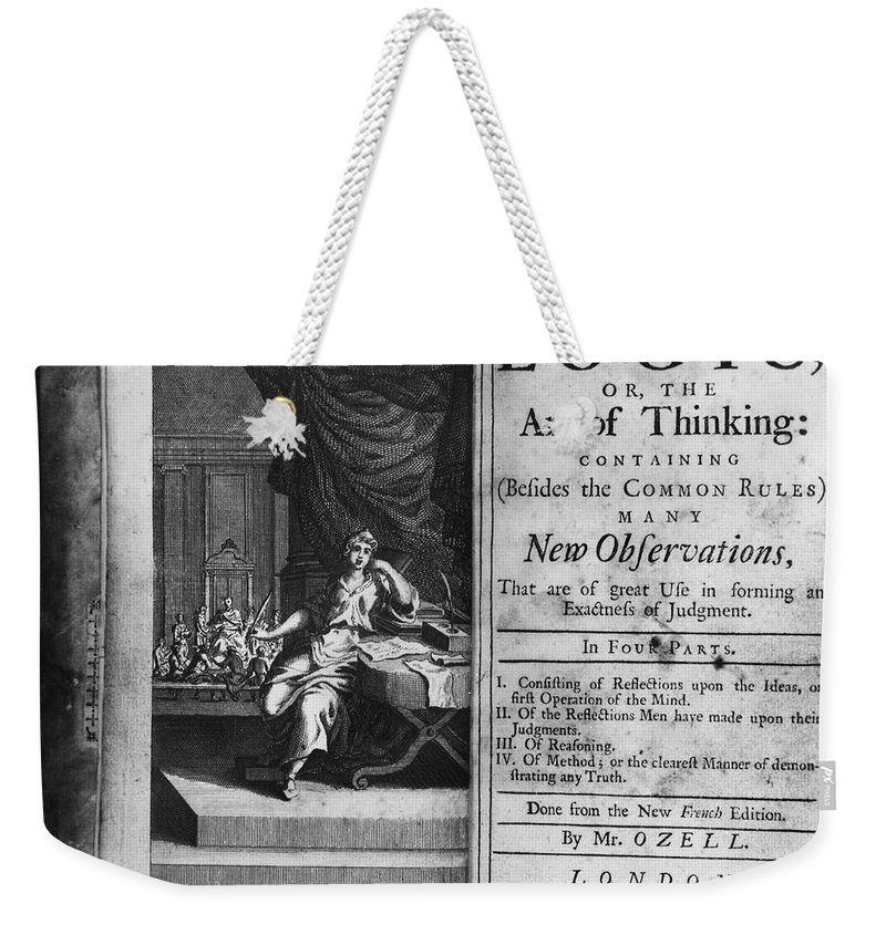 1717 Weekender Tote Bag featuring the photograph Arnauld & Nicole: Logic by Granger