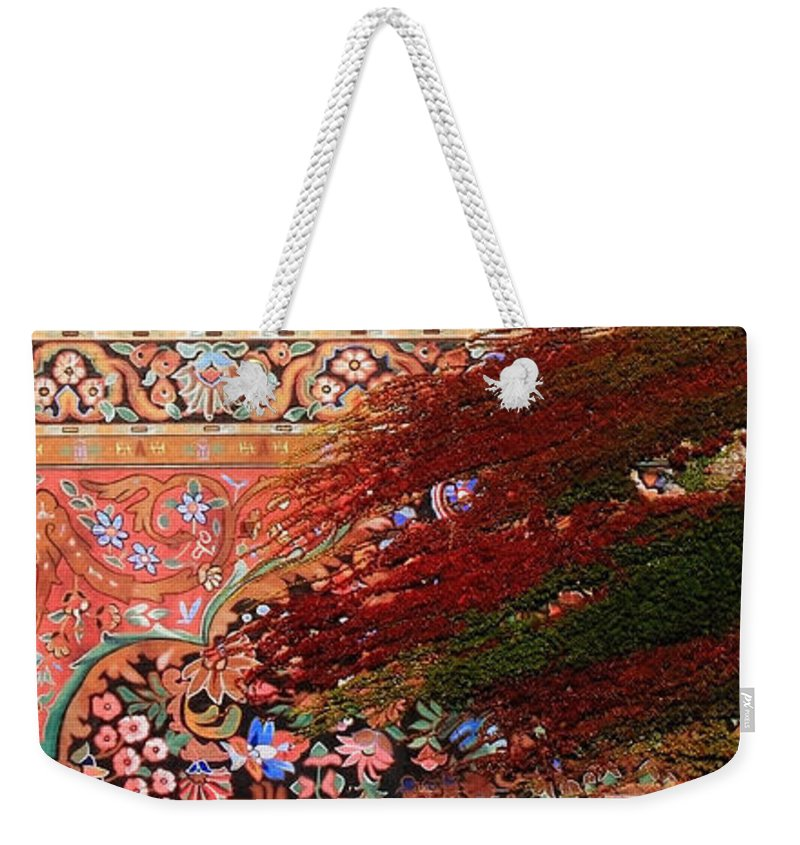Ivy Weekender Tote Bag featuring the photograph Art Wall by Andrew Fare