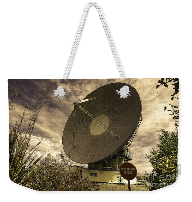 Goonhilly Weekender Tote Bag featuring the photograph Arthur by Rob Hawkins