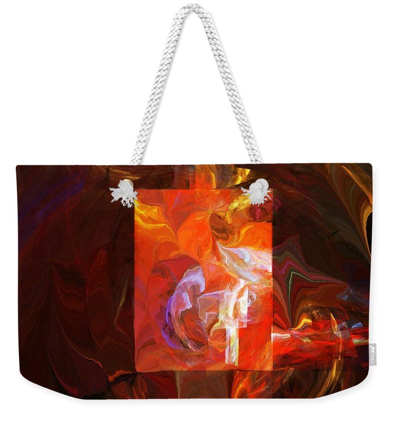 Fine Art Weekender Tote Bag featuring the digital art Artist World View by David Lane