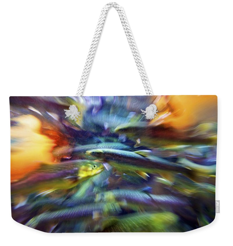 Abstract Weekender Tote Bag featuring the photograph Artistic Char by Julius Reque