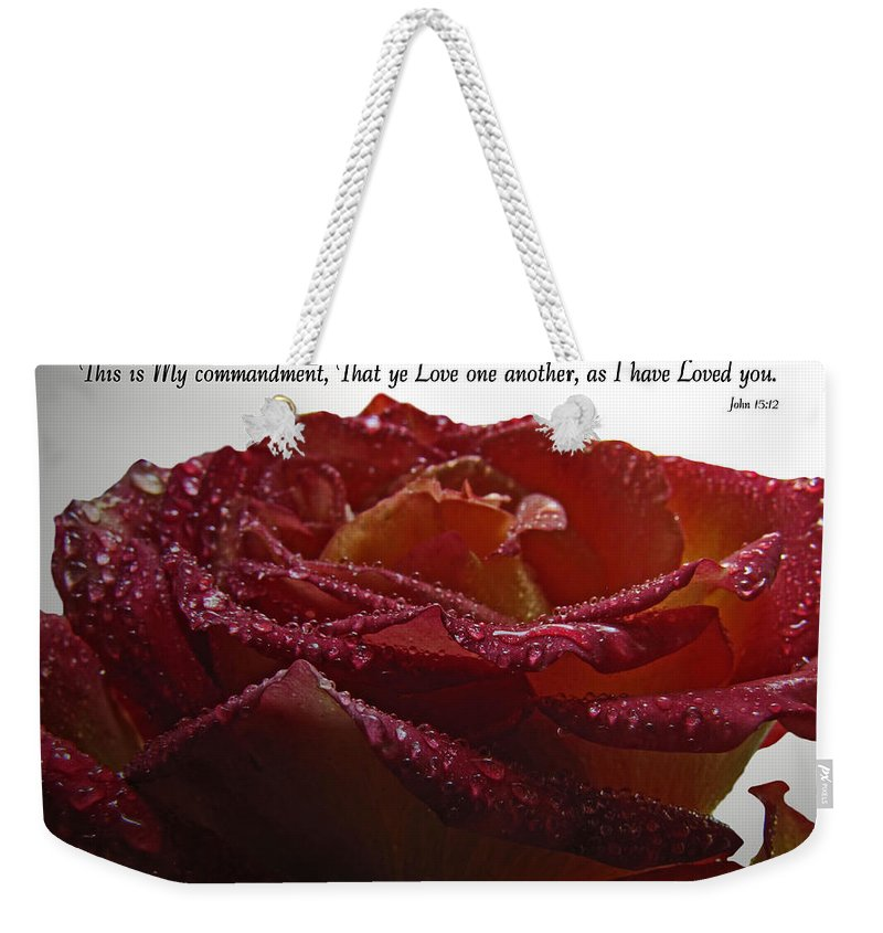 Nature Weekender Tote Bag featuring the photograph As I Have Loved You by Debbie Portwood