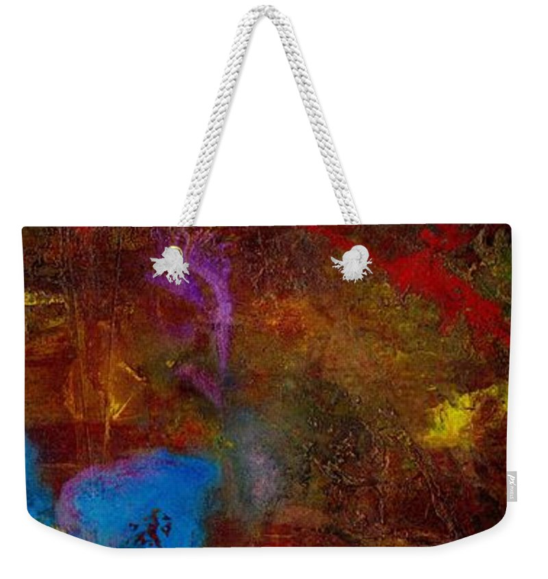 Acrylic Weekender Tote Bag featuring the painting Asian Gardens II by Angela L Walker