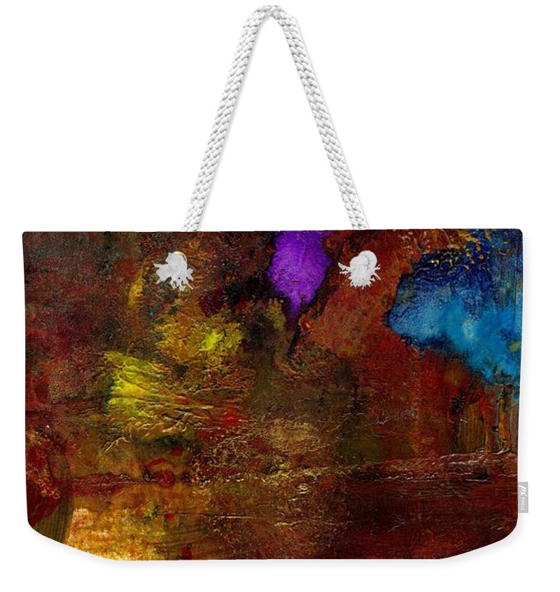 Acrylic Weekender Tote Bag featuring the painting Asian Gardens IIi by Angela L Walker