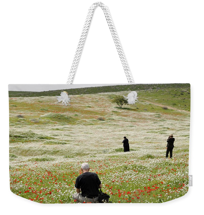 Weekender Tote Bag featuring the photograph At Lachish's Magical Fields by Dubi Roman