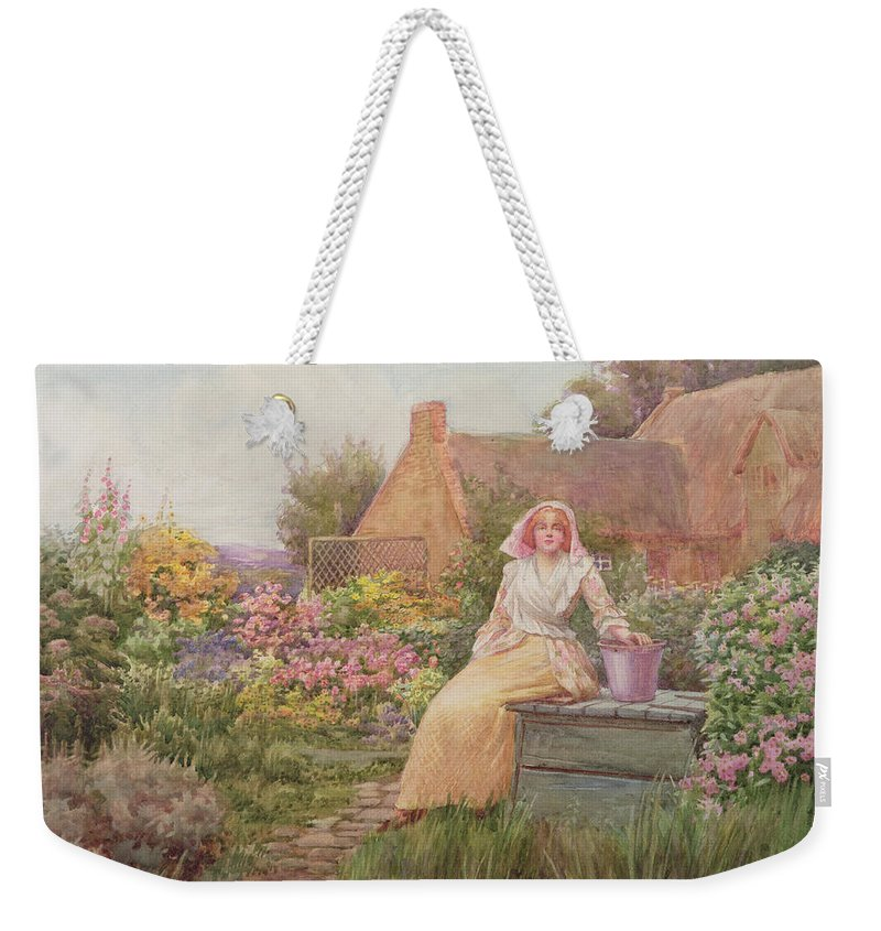 At The Well Weekender Tote Bag featuring the painting At The Well by William Ashburner