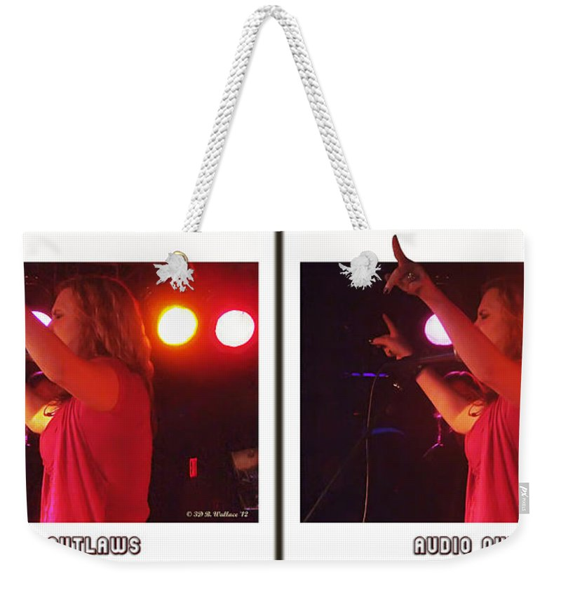 3d Weekender Tote Bag featuring the photograph Audio Outlaws - Cross Your Eyes And Focus On The Middle Image by Brian Wallace