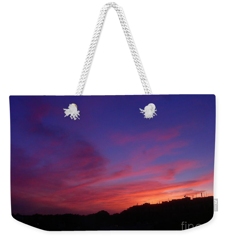 Sunset Weekender Tote Bag featuring the photograph August 26 2008 by Mark Gilman