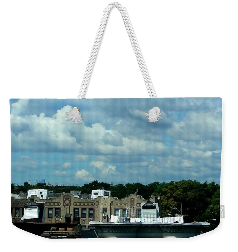 Clouds Weekender Tote Bag featuring the photograph August 4 2008 by Mark Gilman