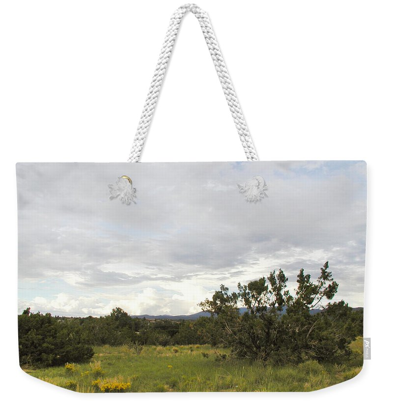 Desert Weekender Tote Bag featuring the photograph August Desert by Kathleen Grace