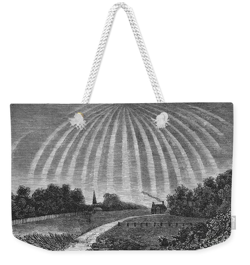1837 Weekender Tote Bag featuring the photograph Aurora Borealis, 1837 by Granger