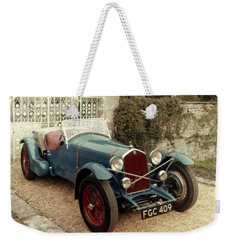 1933 Weekender Tote Bag featuring the photograph Auto: Alfa-romeo, 1933 by Granger