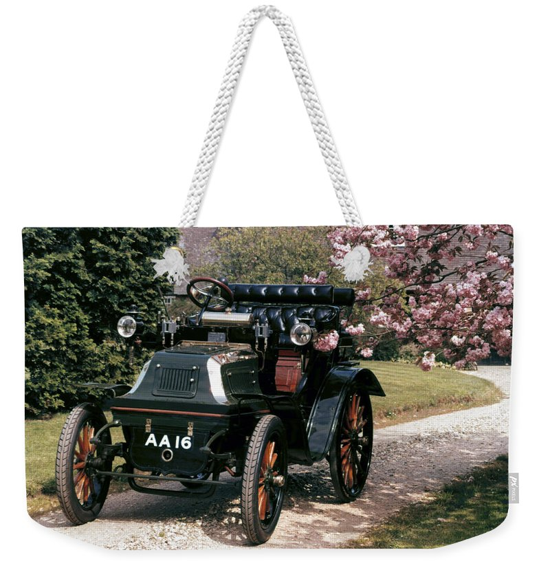 1899 Weekender Tote Bag featuring the photograph Auto: Daimler, 1899 by Granger
