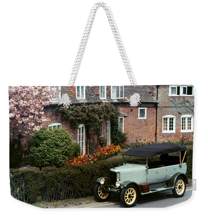 1927 Weekender Tote Bag featuring the photograph Auto: Jowett, 1927 by Granger