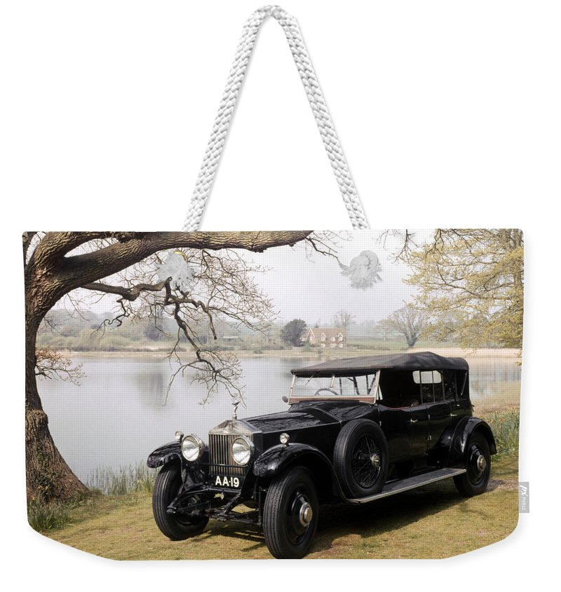 1925 Weekender Tote Bag featuring the photograph Auto: Rolls-royce, 1925 by Granger