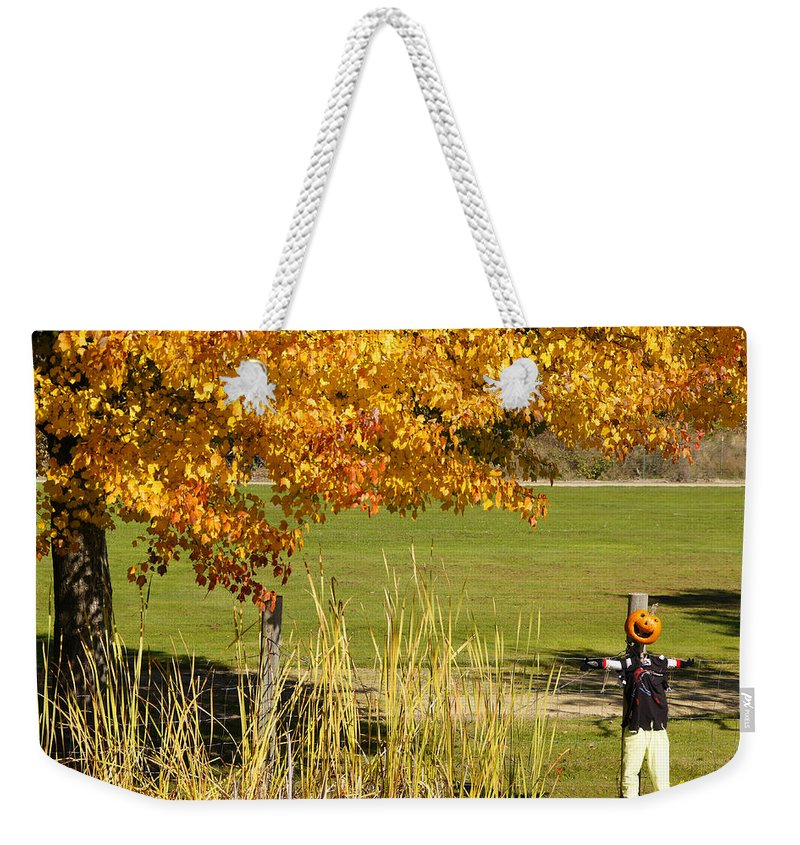 Autumn Weekender Tote Bag featuring the photograph Autumn At The Schoolground by Mick Anderson