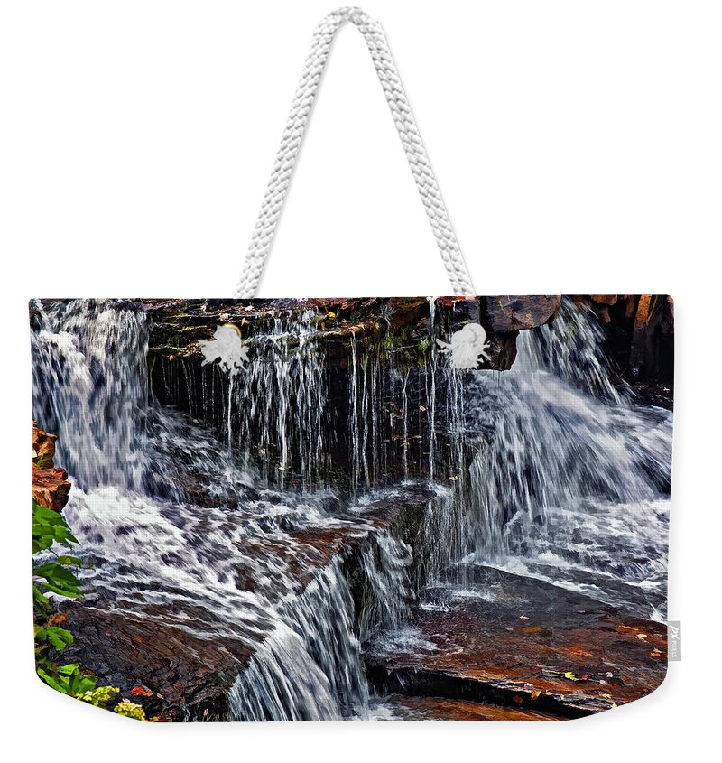 Water Weekender Tote Bag featuring the photograph Autumn Falls 3 by Steve Harrington