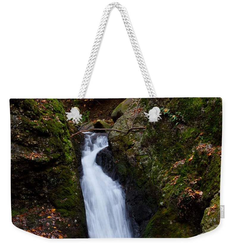 Autumn Weekender Tote Bag featuring the photograph Autumn Falls by Karol Livote
