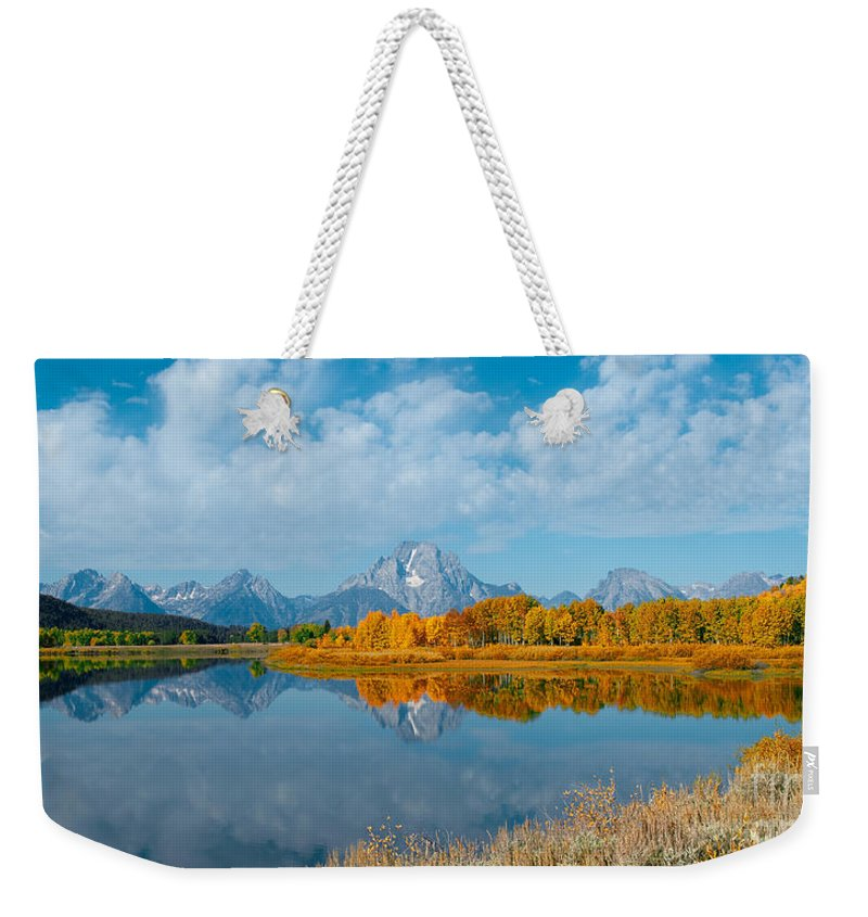 Sandra Bronstein Weekender Tote Bag featuring the photograph Autumn In Grand Teton by Sandra Bronstein