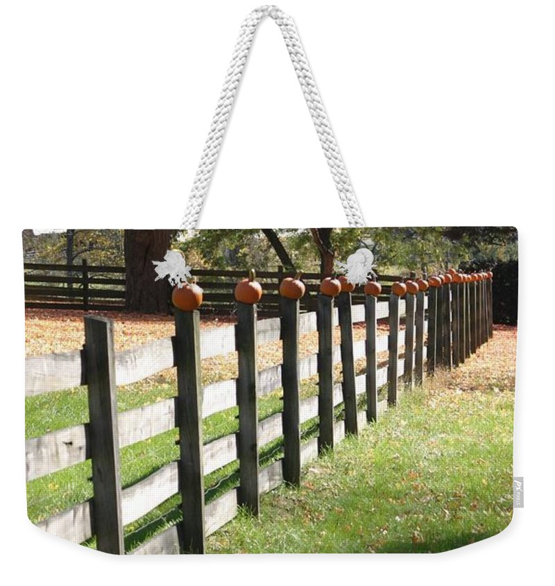 Autumn Weekender Tote Bag featuring the photograph Autumn In New Jersey 2 by Living Color Photography Lorraine Lynch