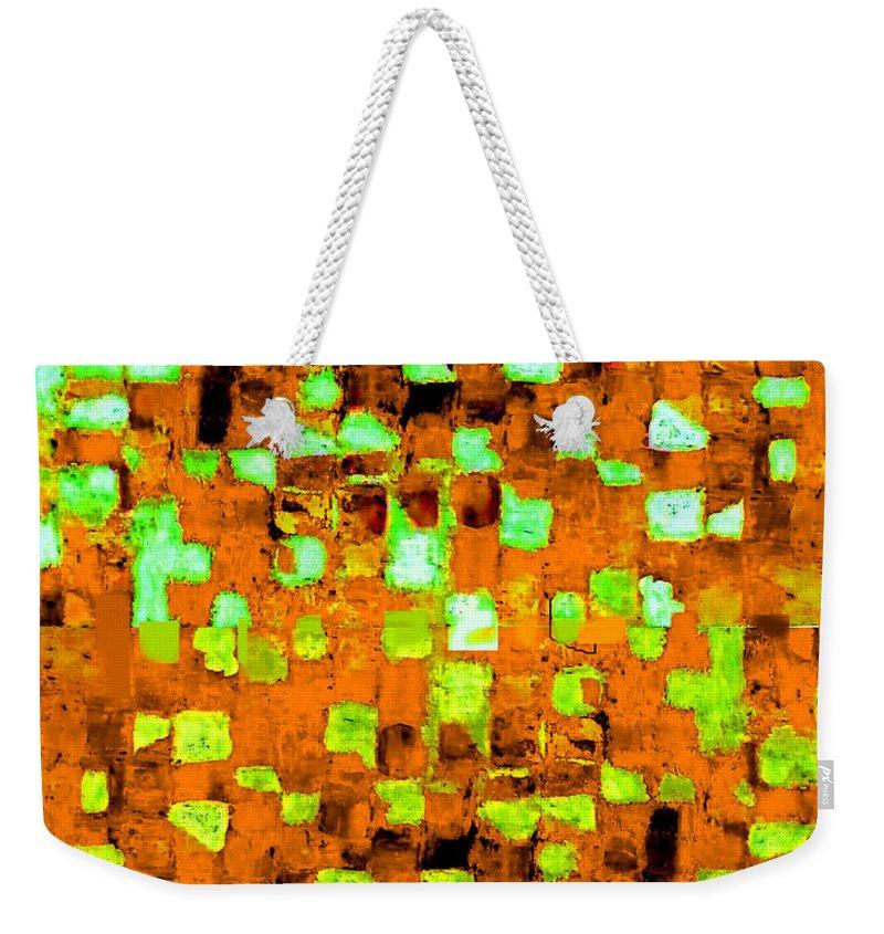 Australian Weekender Tote Bag featuring the painting Autumns Wake 1 by Giro Tavitian