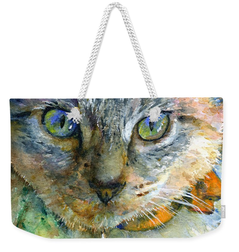 Cat Weekender Tote Bag featuring the painting Avalon 2 by John D Benson