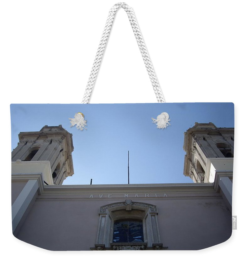 Aimee Mouw Weekender Tote Bag featuring the photograph Ave Maria by Aimee Mouw