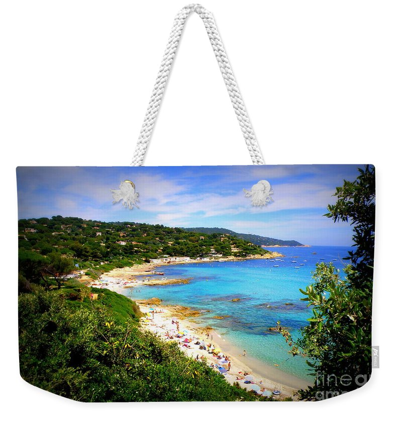 Mediterranean Weekender Tote Bag featuring the photograph Azure by Lainie Wrightson