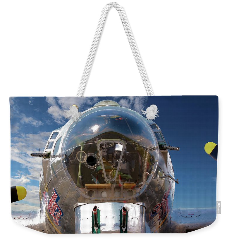 Aeroplane Weekender Tote Bag featuring the photograph B17 Flying Fortress by Paul Fell