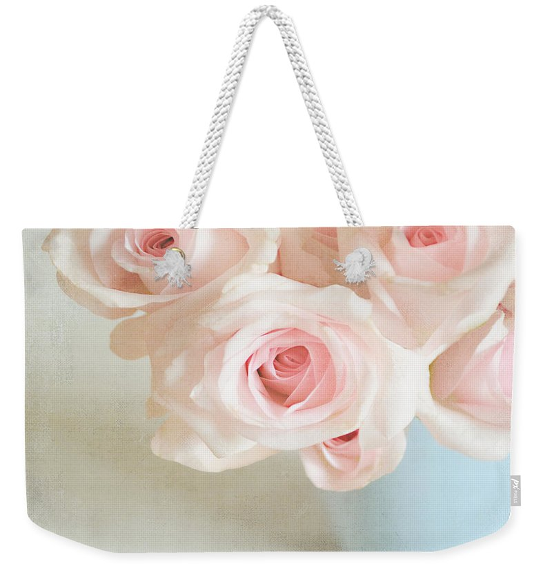 Roses Weekender Tote Bag featuring the photograph Baby Pink Roses by Lyn Randle