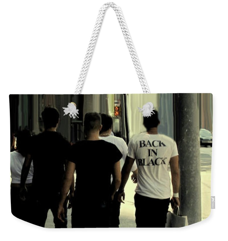 Toronto Weekender Tote Bag featuring the photograph Back In Black by Ian MacDonald