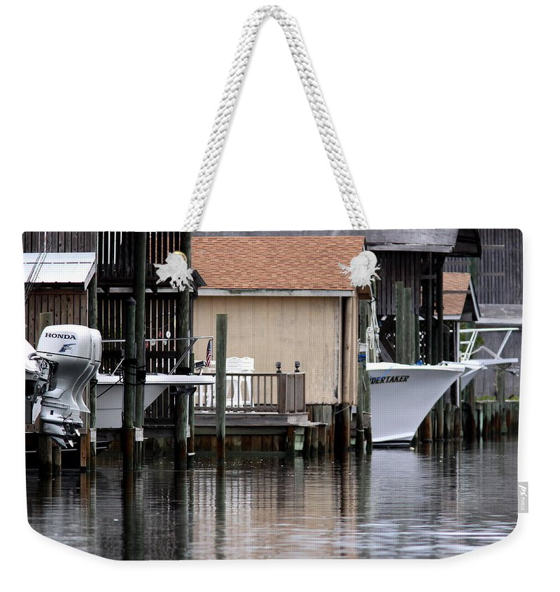 Gulf Of Mexico Weekender Tote Bag featuring the photograph Backyard Waterway by Travis Truelove