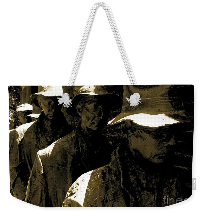 Line Weekender Tote Bag featuring the photograph Bad Economy by Charleen Treasures