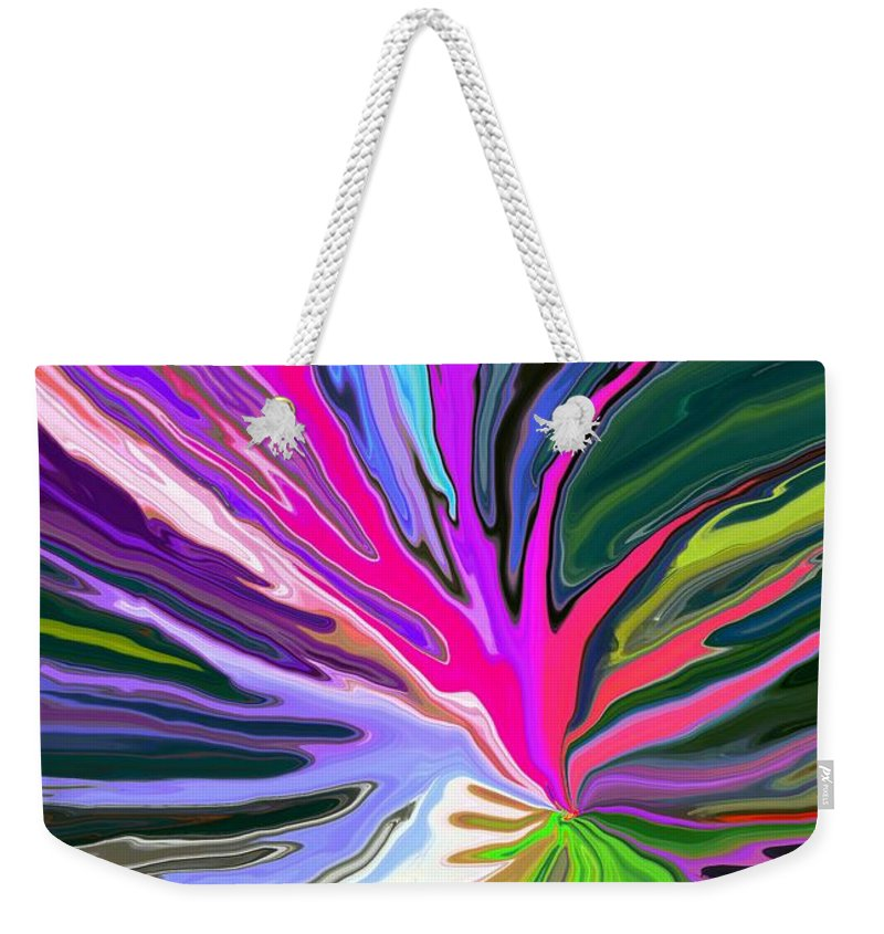 Abstract Weekender Tote Bag featuring the digital art Bad Seed by Chris Butler