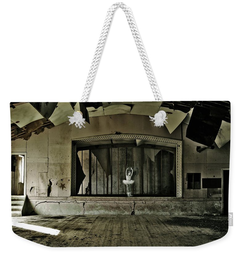 Street Photographer Weekender Tote Bag featuring the photograph Ballerinas Ballad Two by The Artist Project