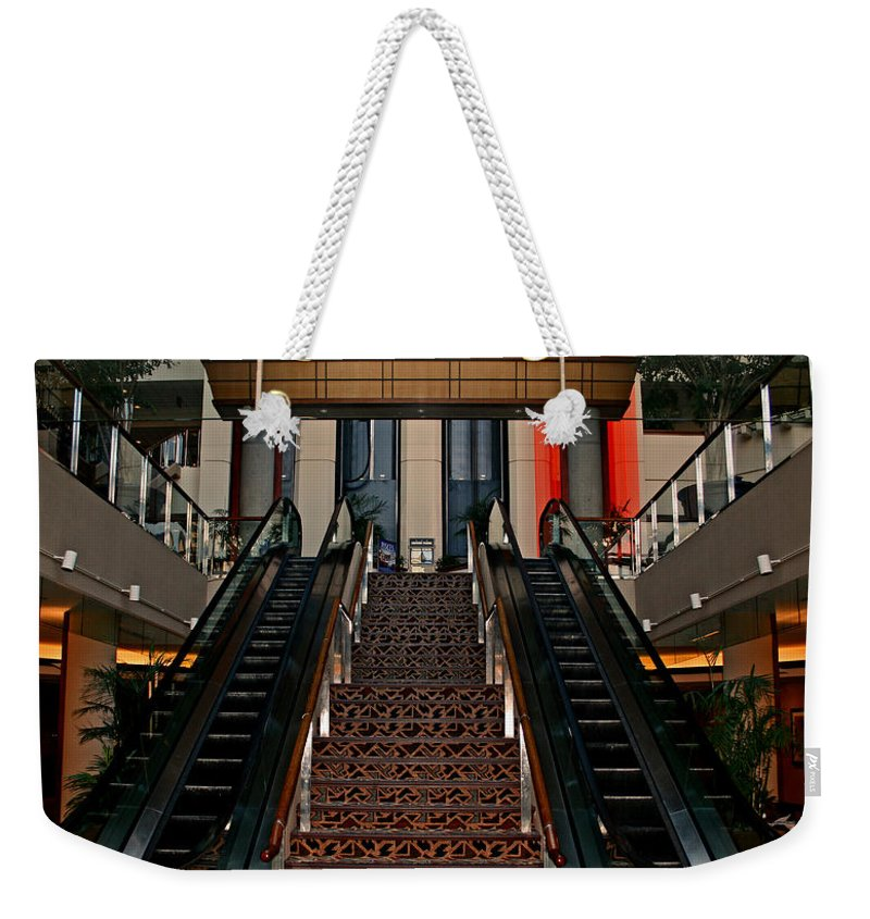Baltimore Weekender Tote Bag featuring the photograph Baltimore Stairway by Karen Harrison