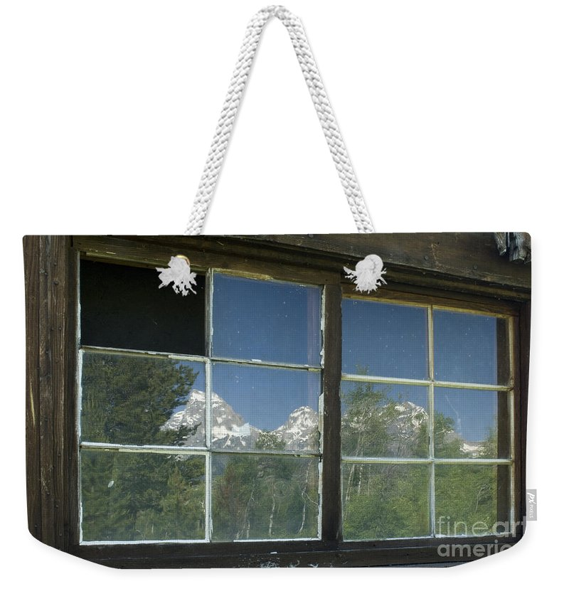 Sandra Bronstein Weekender Tote Bag featuring the photograph Bar B C Ranch Reflection by Sandra Bronstein