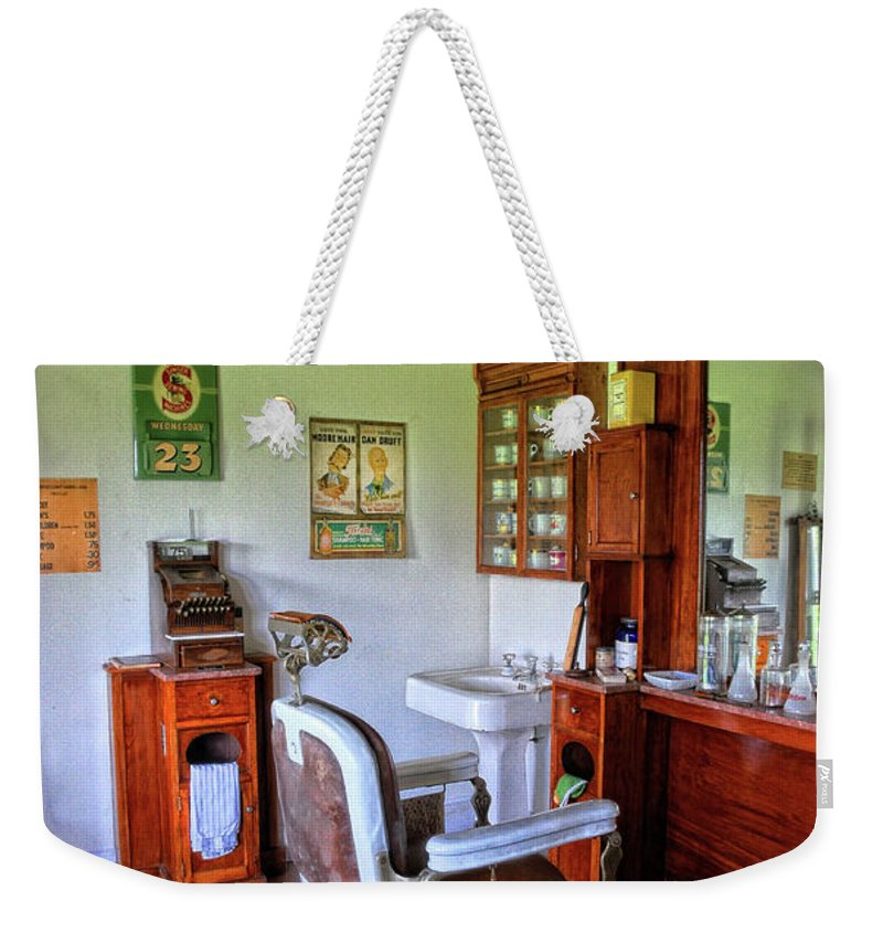 Barber Shop Weekender Tote Bag featuring the photograph Barber Shop 2 by Dave Mills