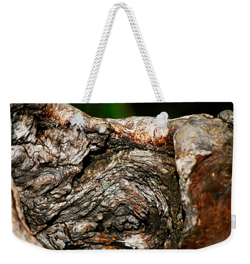 Bark Weekender Tote Bag featuring the photograph Bark by Christopher Gaston