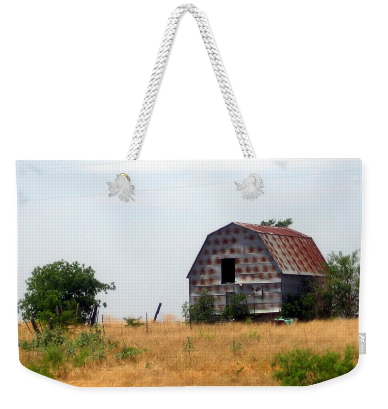 Barn Weekender Tote Bag featuring the photograph Barn by Amy Hosp