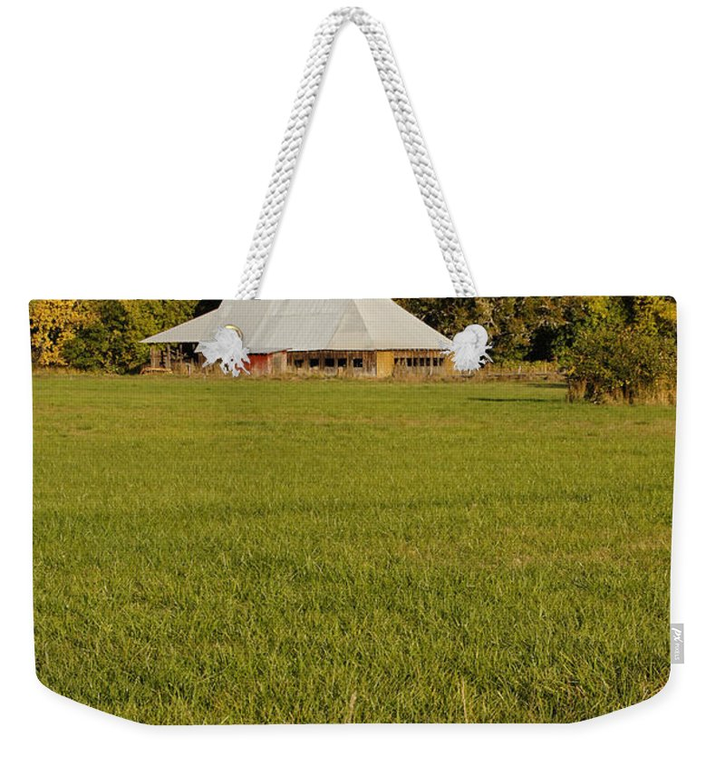 Barn Weekender Tote Bag featuring the photograph Barn Near Murphy by Mick Anderson