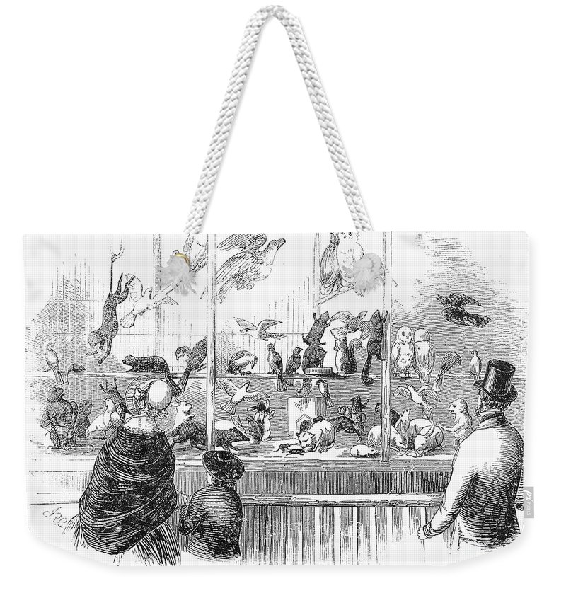 1853 Weekender Tote Bag featuring the photograph Barnums Museum, 1853 by Granger