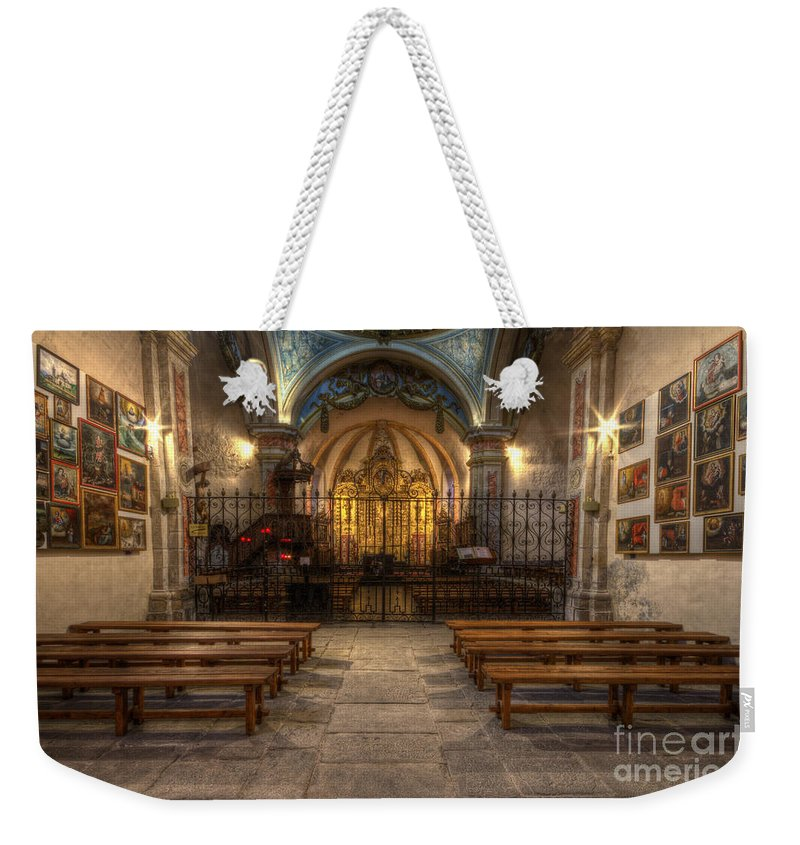 Clare Bambers Weekender Tote Bag featuring the photograph Baroque Church In Savoire France 4 by Clare Bambers