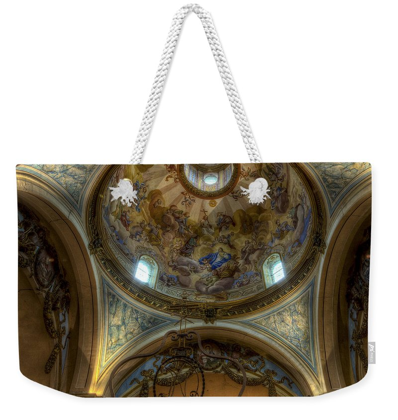 Clare Bambers Weekender Tote Bag featuring the photograph Baroque Church In Savoire France 5 by Clare Bambers