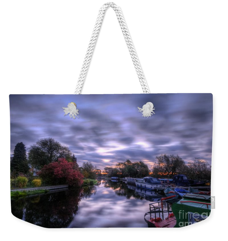 Hdr Weekender Tote Bag featuring the photograph Barrow Sunrise In Motion by Yhun Suarez
