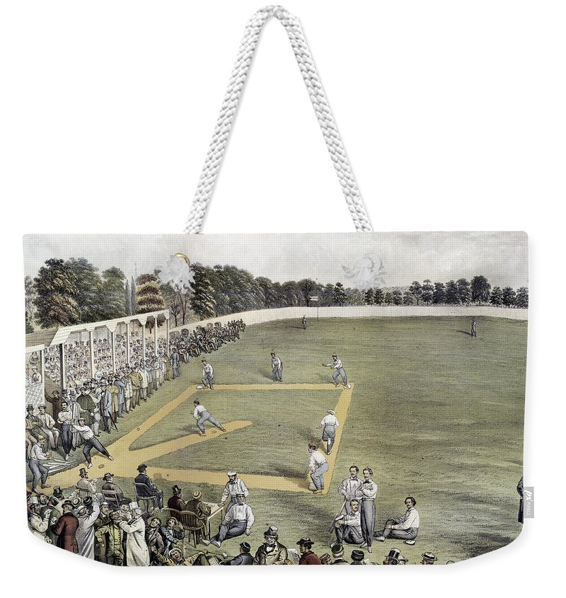 1866 Weekender Tote Bag featuring the photograph Baseball, 1866 by Granger