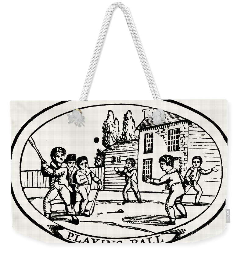 1820 Weekender Tote Bag featuring the photograph Baseball Game, 1820 by Granger