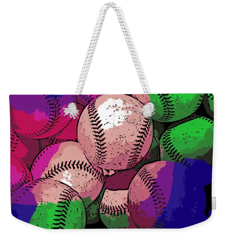 Baseball Weekender Tote Bag featuring the photograph Baseball by George Pedro