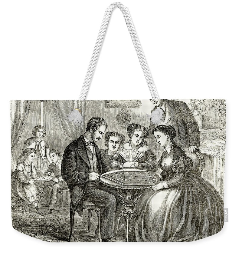 1866 Weekender Tote Bag featuring the photograph Baseball: Parlor Game by Granger